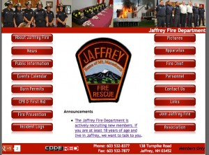 Custom Website for the Jaffrey Fire Department