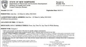 New Hampshire Electronic Burn Permit